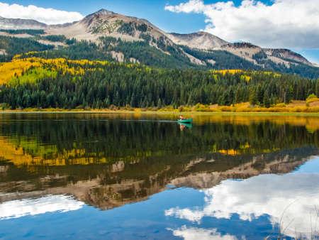 lost lake: Lost lake in autumn. Colorado.