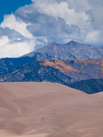 fine particles: Before sunset at Great Sand Dunes National Park, Colorado.