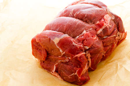 Local grass fed chuck roast ready for cooking. photo