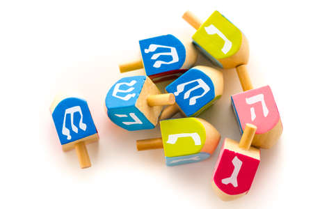 A still life composed of elements of the Jewish ChanukahHanukkah festival.