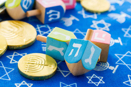 A still life composed of elements of the Jewish ChanukahHanukkah festival. photo