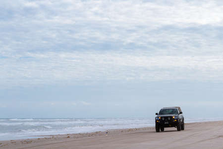 granula: Driving on the baech of South Padre Island.