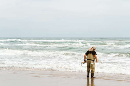 Beach fishing on South Padre Island. photo