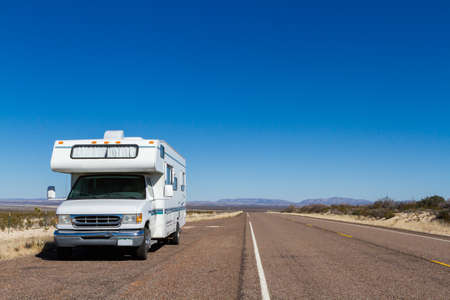 Class C motorohome in the desert. Stock Photo - 25065444