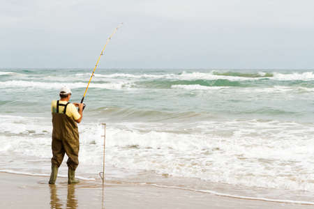 Beach fishing on South Padre Island.