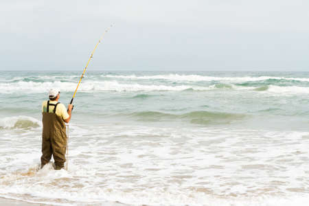 south padre island: Beach fishing on South Padre Island. Editorial