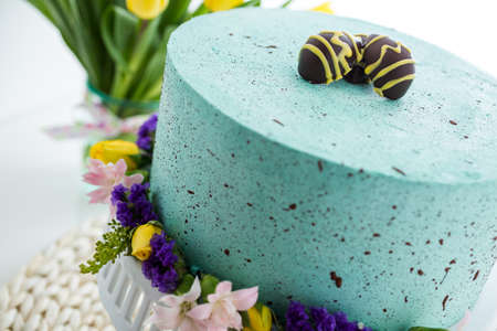 robins: Easter Robins egg cake with chocolate speckles and egg truffles.