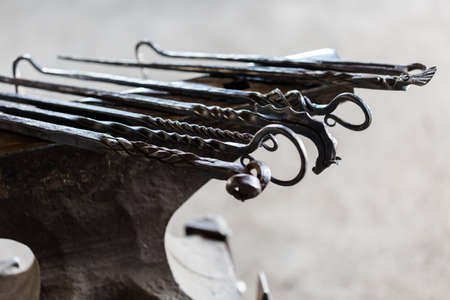 Objects made from iron by blacksmith.