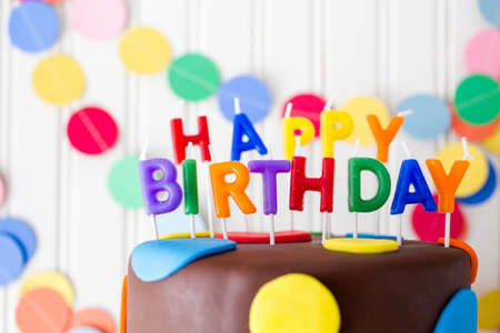 celebration: Colorful sweets for kids birthday party celebration. Stock Photo
