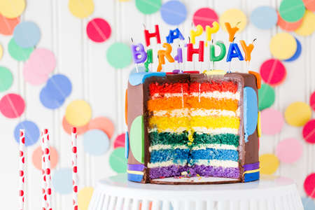 Colorful sweets for kids birthday party celebration. Stock Photo