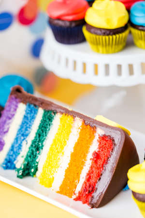 kids birthday party: Colorful sweets for kids birthday party celebration. Stock Photo