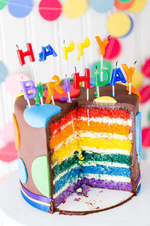 birthday party kids: Colorful sweets for kids birthday party celebration. Stock Photo