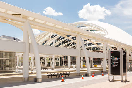 urban redevelopment: Denver, Colorado USA-26 May, 2014: Progress of redevelopment of Union Station in Denver.