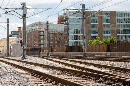 urban redevelopment: Denver, Colorado USA-26 May, 2014: Light rail station near Union Station in Denver.