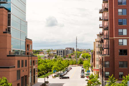 urban redevelopment: Denver, Colorado USA-26 May, 2014: Street view of urban area in Denver.