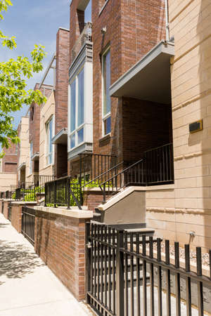 townhomes: Contemporary townhomes in downtown Denver, Colorado. Stock Photo