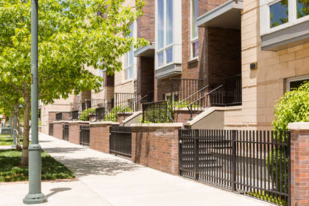 townhomes: Contemporary townhomes in downtown Denver, Colorado. Editorial