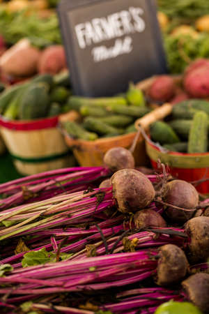 vegetabilis: Fresh organic produce on sale at the local farmers market.