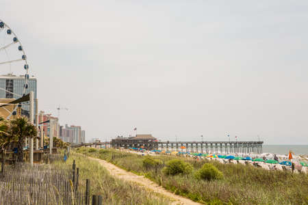 Myrtle Beach, South Caroline, USA-July 10, 2014. Boardwalk in Myrtle Beach, South Carolina.