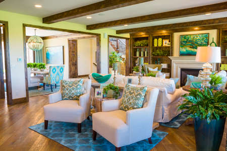 signle family: Denver, Colorado, USA-August 7, 2014. Luxury interior of typical American suburban house. Editorial