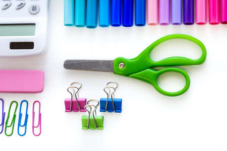 New school supplies prepared for new school year. Stock Photo - 30791005
