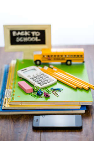 New school supplies prepared for new school year. Stock Photo - 30791820