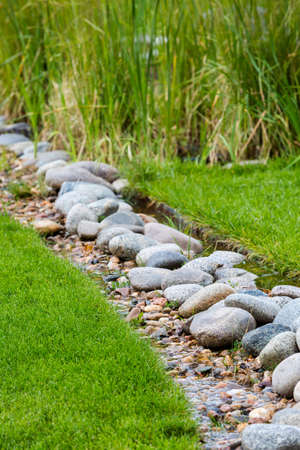 parade of homes: Water smart drainage in new suburban community.