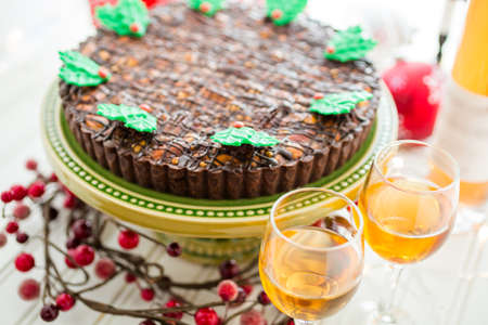 pastrie: Chocolate beer and wine pairings. Nutcracker Sweet Tart with wine for Christmas.