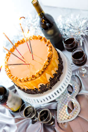 Chocolate beer and wine pairings. Heavenly Hazelnut Torte with beer and wine for celebrating New Year.