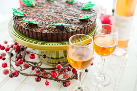 Chocolate beer and wine pairings. Nutcracker Sweet Tart with wine for Christmas.