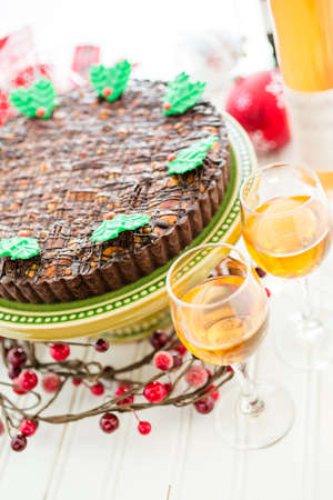 sweet tart: Chocolate beer and wine pairings. Nutcracker Sweet Tart with wine for Christmas.
