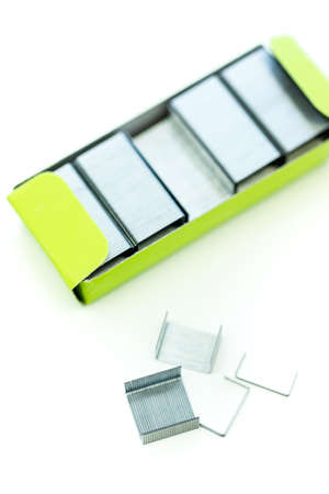 metal fastener: New school supplies ready for new school year.