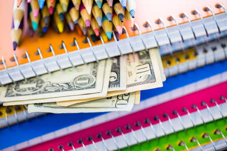 expensive: New school supplies ready for new school year.