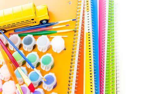 new school year: New school supplies ready for new school year.