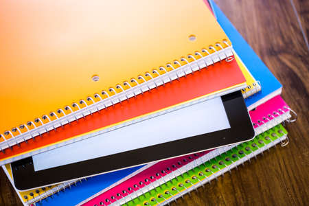 New school supplies ready for new school year.