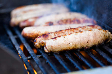 worst: Cooking meats on barbecue grill outdoors.
