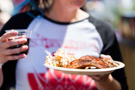 Smokin Brew BBQ summer festival. Stock Photo - 31179997