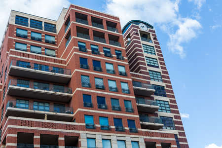 riverfront: Contemporary condominiums at Riverfront development in Denver, Colorado.