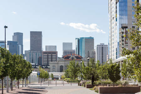 Denver, Colorado, USA-August 31, 2014. Summer skyline of downtown Denver, Colorado Editorial