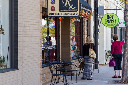 main street: Main street of historic downtown Littleton, Colorado.