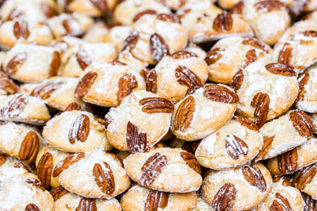 pastrie: Traditional Italian cookies in large quantaty on display. Stock Photo