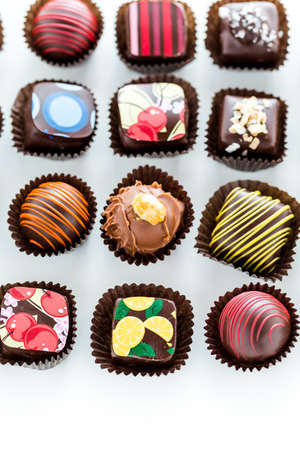 Delicious gourmet chocolate truffles hand made by professional chocolatier. 写真素材