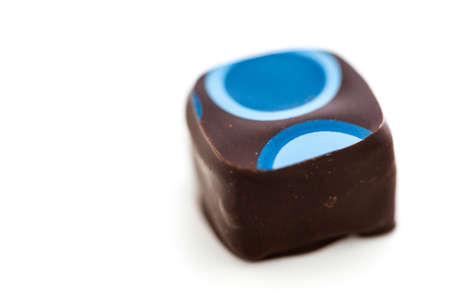 Gourmet boldly blueberry acai truffle on a white background. Reklamní fotografie