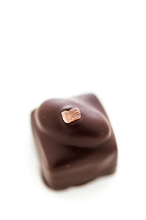 almighty: Gourmet almighty almond truffle on a white background. Stock Photo