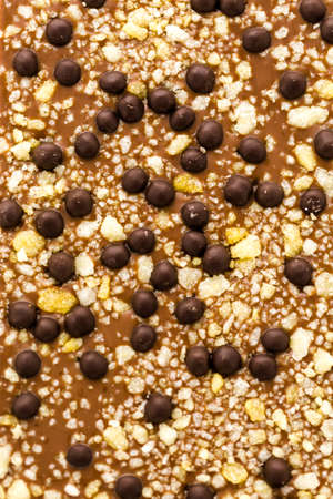Gourmet party in your mouth chocolate bar on a white background.