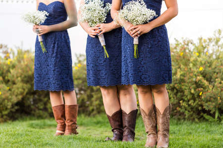 priced: Small wedding ceremony in white and blue theme.