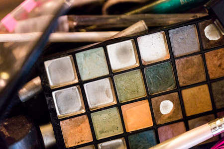 priced: Used multicolor eye shadows of make up artist.
