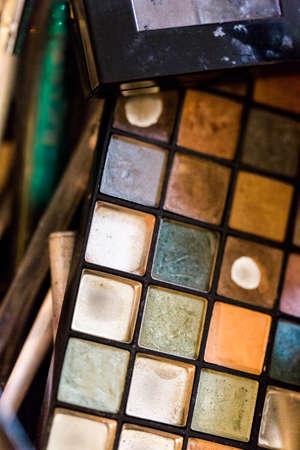 make up artist: Used multicolor eye shadows of make up artist.