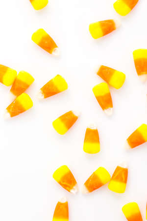 candy corn: Candy corn candies on a white background.