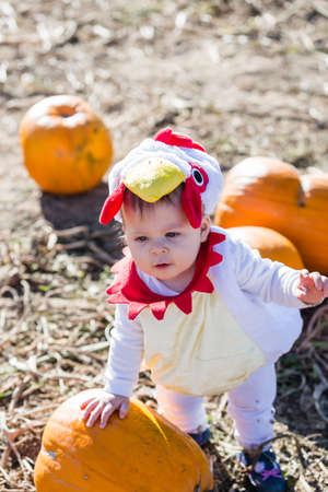 #32885458 - Cute kids in Halloween costumes at the pumpkin patch. & Cute Kids In Halloween Costumes At The Pumpkin Patch. Stock Photo ...